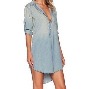 NSF Toby Chambray Shirt-Dress Size Medium